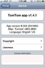TomTom Europe v.1.4.1 [Radar Speed Cameras/Map 8.55.2885]  (2010/ENG) - Iphone/Ipod Touch