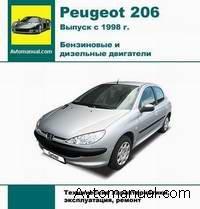 Скачать руководство по ремонту и обслуживанию Peugeot 206 c 1998 года