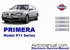 Скачать руководство по ремонту и обслуживанию Nissan Primera серии P11