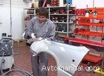 Видео: ремонт кузова автомобиля: абразивная обработка и нанесение лакокрасочного покрытия