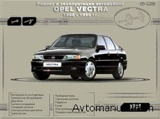������� ����������� �� ������� � ������������ Opel Vectra  1988 - 1995 ����� �������