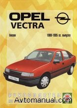 Скачать руководство по ремонту и эксплуатации Opel Vectra A 1988 - 1995 годов выпуска