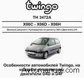 Руководство по ремонту автомобиля Renault Twingo