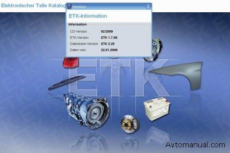 Каталог запасных частей BMW ETK 02.2009 года