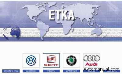 Электронный каталог ETKA 7 для Audi, VW, Skoda, Seat с обновлениями до 16.04.2009 года