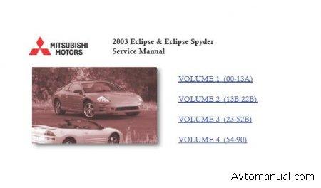 Руководство по ремонту Mitsubishi Eclipse G3 (2000-2005)