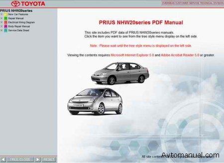 Руководство по обслуживанию Toyota Prius NHW11 NHW20 2003 год