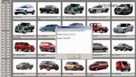Каталог запасных частей Chrysler ProQuest USA 04.2008 год