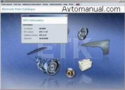 Каталог запасных частей BMW ETK 06.2009 год