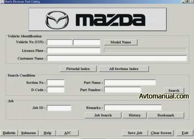 Каталог запасных частей Mazda EPC LHD 09.2009 год
