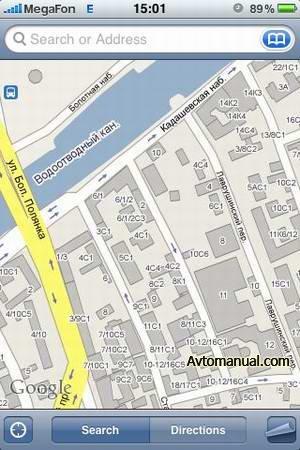 Google Maps для iPhone: Москва, Санкт-Петербург, обзорная карта России (2009)