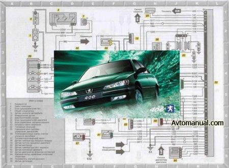 Электрические схемы Peugeot 406 1996 - 1999 года выпуска