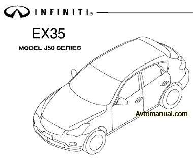 Руководство по ремонту Infiniti EX35 J50 с 2008 года выпуска