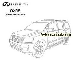 Руководство по ремонту Infiniti QX56 JA60 с 2005 года выпуска
