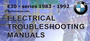 Электрические схемы BMW 3-серии Е30 1983 - 1992 года выпуска