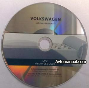 ����������� ����������� ��� ������ ���������� ����������� Volkswagen Flash DVD v.051