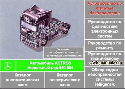 Сборник руководств по ремонту Mercedes-Benz Actros модели 950 - 954
