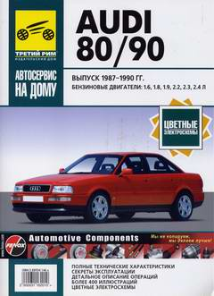 Руководство по ремонту Audi 80 / 90 1987 - 1990 года выпуска