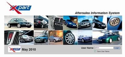 Каталог запчастей MG Rover EPC (май 2010 г.)