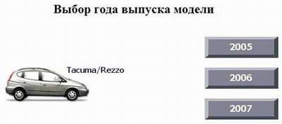 Руководство по ремонту и обслуживанию Chevrolet Tacuma / Rezzo 2005 - 2007 года выпуска