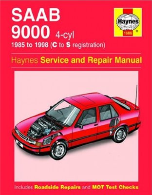SAAB 9000 4-cyl 1985-98 (C to S registration). Service and Repair Manual.