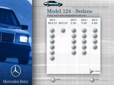 Сервисное руководство по ремонту и обслуживанию Mercedes модели W124