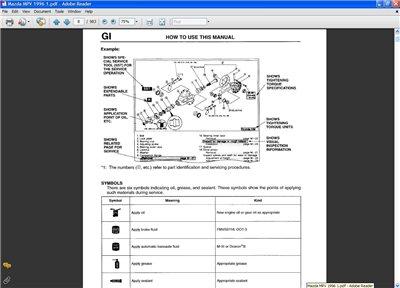 Mazda MPV JE V6 3.0 (1989-1998) Workshop Manual
