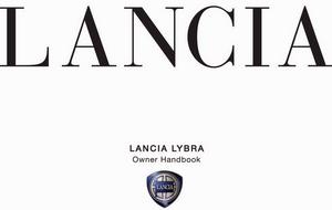 Руководство пользователя по эксплуатации автомобиля Lancia Lybra