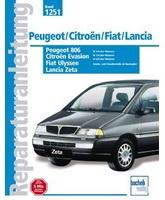 ����������� �� ������� Citroen Jumpy / Evasion, Peugeot Expert / 806, Fiat Ulysse / Scudo, Lancia Z (������) 1994 - 2001 ���� �������