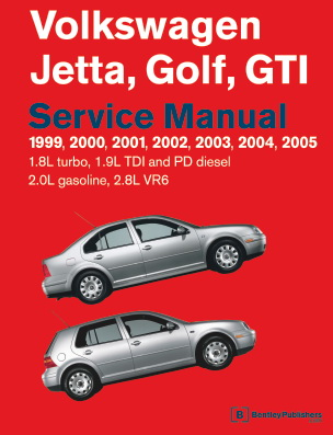 Volkswagen Golf, Jetta, GTI. Официальное руководство по ремонту (1999-2004)