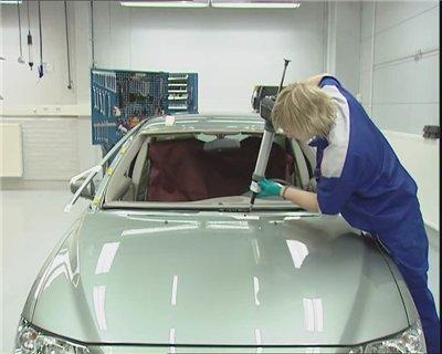 Замена лобового стекла. видео