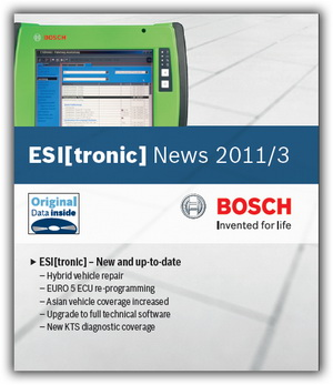 Каталог запасных частей Bosch ESI tronic 2011/3 DVDU