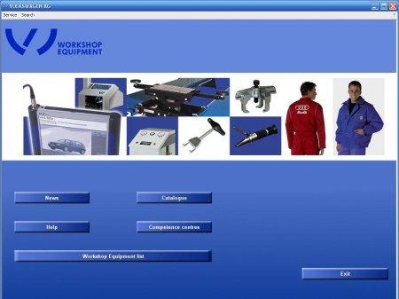 Volkswagen Workshop Equipment and Special Tools Catalog [09.2010, ENG, DEU, FRA, CZE]