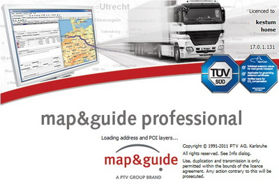��������� ��������� �� ������� ������ Map and Guide Professional 2011 v 17.0 Europe City