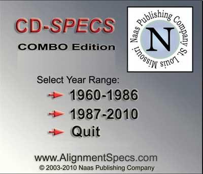 CD-SPECS Combo edition. Регулировка развал-схождения американских автомобилей 1960 - 2010 года выпуска