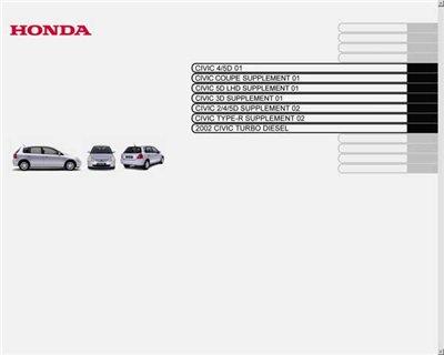 Honda Civic 2001-05.  Service Manual.