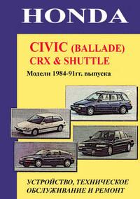 ��������� ����������� HONDA CIVIC (BALLADE), CRX, SHUTTLE 1984-91