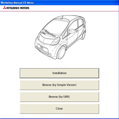 Mitsubishi i-MIEV eur. Workshop Manual (2011-12). Дилерское руководство.