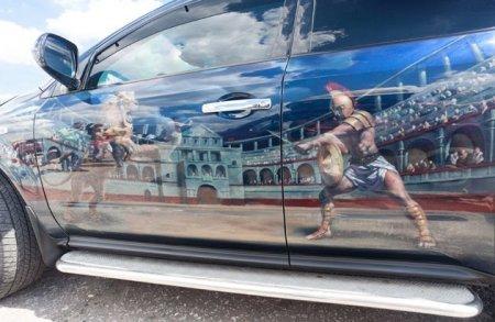 Аэрография или художественная роспись салона автомобиля