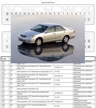 Электрические схемы для Toyota Camry (2004, двигатель 1MZ)