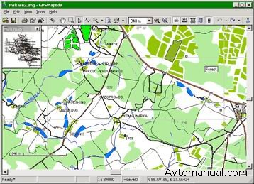 Редактирование GPS-карт Geopainting GPSMapEdit v.1.0.57