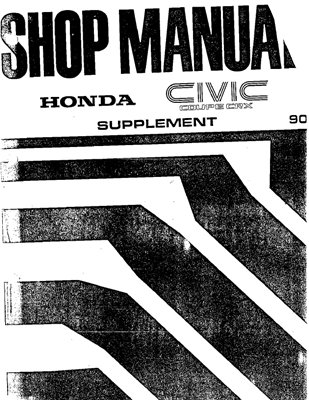 Honda Civic Coupe CRX 1988-1990 г.  Workshop manual.